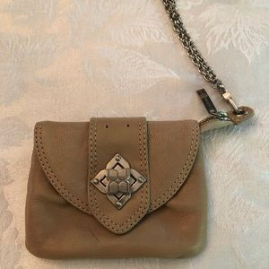 BCBG leather wristlet